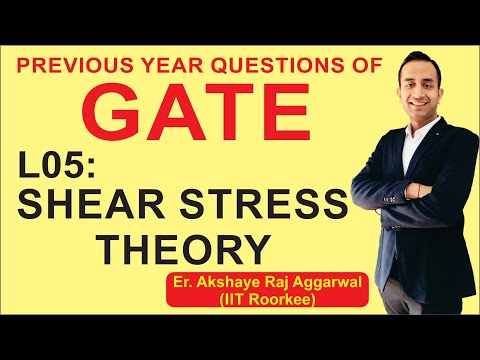 L 05 Shear Stress Theory | Strength of Materials | GATE Previous Year Questions | COMPETE INDIA ZONE