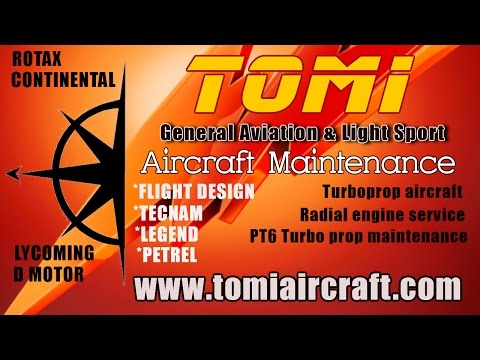 Rotax Service Center Florida, TOMI Aircraft Maintenance Deland Municipal Airport Florida.