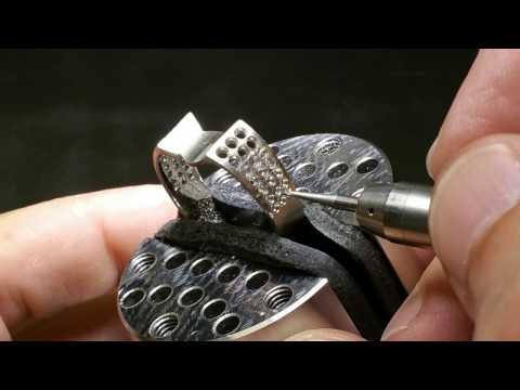 3 5 Carats of Diamonds Pave set in 19 Karat white Gold ring by Kane Kruser