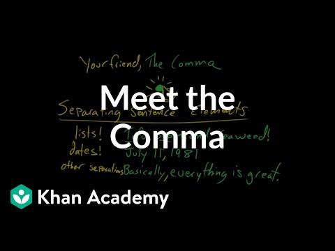 Meet The Comma Video Khan Academy