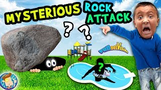 MYSTERIOUS ROCK in BACKYARD!! FUNnel Family Vlog