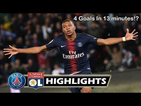 PSG Vs Lyon 5-0 All Mbappes Goals! | Ligue 1| Match Highlights 2018
