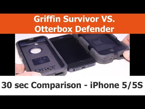 Top 3 Differences - Otterbox Defender vs. Griffin Survivor in 30 seconds - iPhone Cases