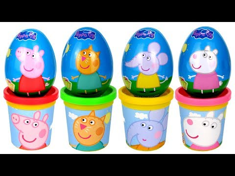 Learn Colors with Play Doh and Surprise Eggs Creative Modelling Clay Fun for Kids