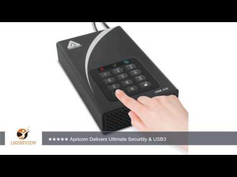 Apricorn Aegis Padlock 4 TB DT 256-bit Encryption USB 3 Hard Drive (ADT-3PL256-4000) | Review/Test
