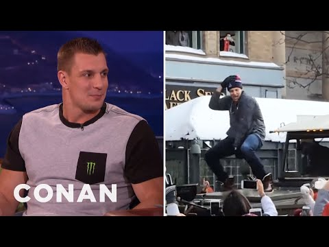 Rob Gronkowski's Secret Male Stripper Past  - CONAN on TBS (видео)