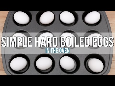 Simple Hard Boiled Eggs In The Oven