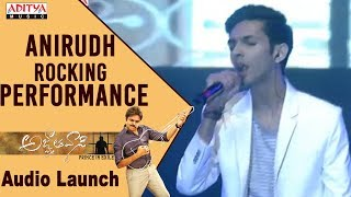 Video Anirudh Rocking Performance @ Agnyaathavaasi Audio Launch | Pawan Kalyan, Keerthy Suresh | Trivikram MP3, 3GP, MP4, WEBM, AVI, FLV Januari 2018