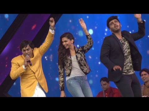 Deepika Padukone, Arjun Kapoor On The Set Of RAW Star For Promotion Of Movie Finding Fanny