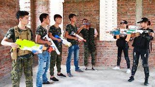 Video 3T Nerf War : Squad Alpha Twin Sisters Nerf guns Escape Spectacular Crime Base MP3, 3GP, MP4, WEBM, AVI, FLV Desember 2018