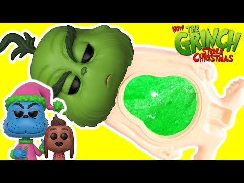 What's Inside Dr. Seuss THE GRINCH Movie Slime Belly Surprise Toys from 2018 GRINCH