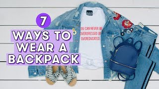 7 Cute Ways to Wear a Backpack | Style Lab by Seventeen Magazine