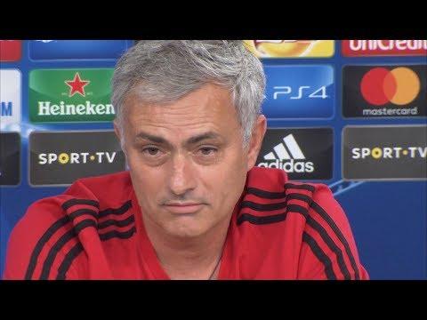 Jose Mourinho Pre-Match Press Conference - Benfica v Manchester United - Champions League (видео)