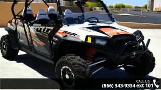 9. 2012 Polaris Ranger RZR 4 800 EPS White/Orange Madness  -...