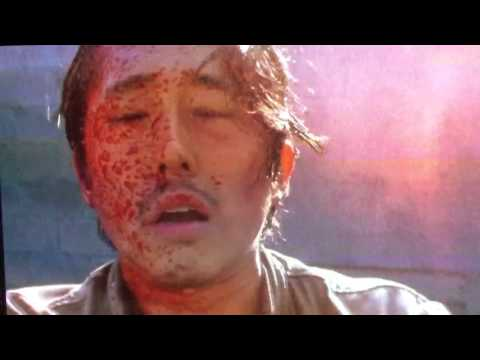 la morte di glenn in the walking dead