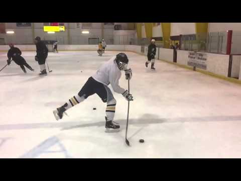 Hockey Shooting Drill: Shooting in Your Stride