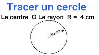 Maths 6ème - Les Bases De La Géométrie : Le cercle Exercice 7