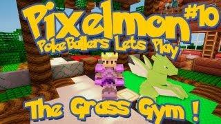 Pixelmon Server Minecraft Pokemon Mod Pokeballers Lets Play! Ep 10 - The Grass Gym