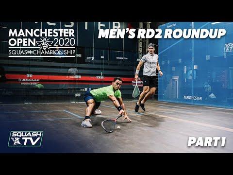 Squash: Manchester Open 2020 - Men's Rd2 Roundup [Pt.1]