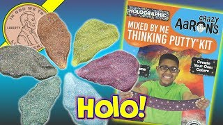 Holographic Crazy Aaron's Mixed By Me Putty Kit - 5 New Colors!  This was fun to check out on video.  I wanted to make sure on this one I made a bunch of different colors.  In the last Glow In The Dark Crazy Aaron's Set I ended up with very similar colors.  I had two stops in this video because I wanted to verify a few things from the last video.  It is pretty standard for me to just start a video and then move right through it.  In the end I was happy how they turned out and I hope you enjoyed the video. Something was really tripping me up on that HOLO word!  So funny when things like that happen to me on video.Lucky Penny ThoughtsLPS-DaveLater!▶ About UsLucky Penny Shop is a family-friendly YouTube channel that features videos of kids food maker sets, slime, putty, new & vintage toys, games and candy & food from around the world! There are over 5500 videos!▶ Product InfoHolographic Crazy Aaron's Mixed By Me Thinking Putty Kit - 5 New Colors!Visit us online ▶ http://www.luckypennyshop.com/shop/My new Crazy Aaron's Thinking Putty colors:Purple SkyShiver CubeGreen CheeseGalaxyPixel Pink▶ Watch More VideosCrazy Aaron's Thinking Putty, Magnetic, Super Illusions, Precious Metals & Gems, Liquid Glass https://www.youtube.com/watch?v=86MLYHLckXA&index=1&list=PL27_x9U5H26tnRIWEnLbYndbiwISG73gYCrazy Aaron's Putty Collection - Over 40 Putties! Thinking Putty Mixinghttps://www.youtube.com/watch?v=SxoU6oUS02UCrazy Aaron's Mixed By Me Thinking Putty Kit - Glow In The Darkhttps://www.youtube.com/watch?v=Uvv-IfwC7PwCrazy Aaron's Super Oil Slick Thinking Puttyhttps://www.youtube.com/watch?v=VYX_j0CWTCY▶ Follow UsTWITTER  http://twitter.com/luckypennyshop FACEBOOK  http://www.facebook.com/LuckyPennyShopINSTAGRAM  http://instagram.com/LuckyPennyShopGOOGLE+  https://plus.google.com/+luckypennyshopPINTEREST  http://www.pinterest.com/luckypennyshop/LPS WEBSITE  http://www.luckypennyshop.com/Sound Effects by http://audiomicro.com/sound-effectsThis video is not intended as an endorsement 