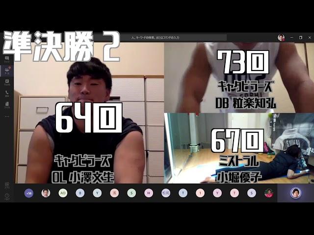 アメフト社会人チームキャタピラーズのコンテンツ「【第2回】vs MISTRAL」