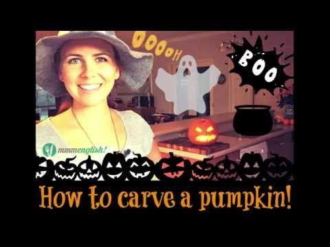 Learn English | How to Carve a Pumpkin for Halloween!