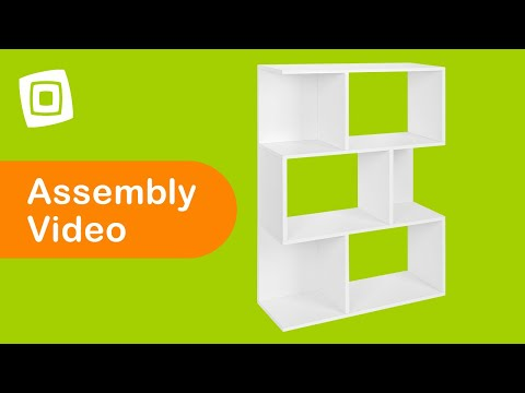 Video for Eco Friendly White Modular Storage Madison Bookcase