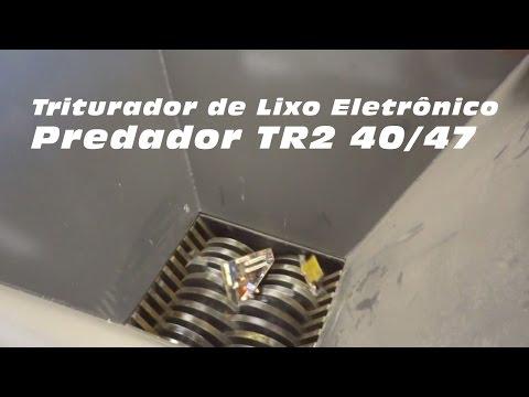Triturando placas eletrônicas com o Triturador Predador TR2 40/47 Lippel