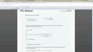 PTC Mathcad Demo - Comprehensive Documentation
