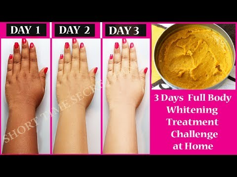 3 Days Full Body Whitening Challenge at Home | Get 100% Fair, Spotless, Glowing Skin Naturally
