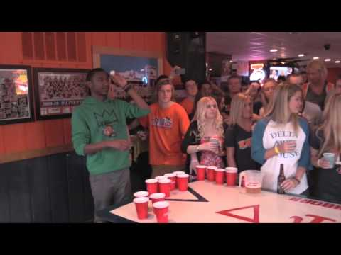 Big Cat Plays Beer Pong With Christopher Mintz-Plasse, Dave Franco, and Jerrod Carmichael