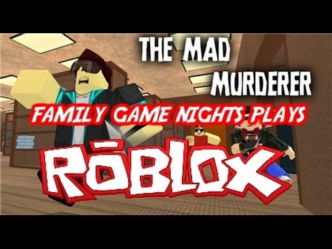 Family Game Nights Plays: Roblox - The Mad Murderer #Blockhead Shirts (PC)
