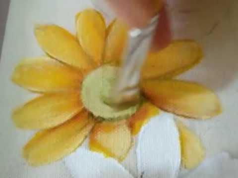 Pintura em tecido Eliane Nascimento: Como eu pinto Margaridas