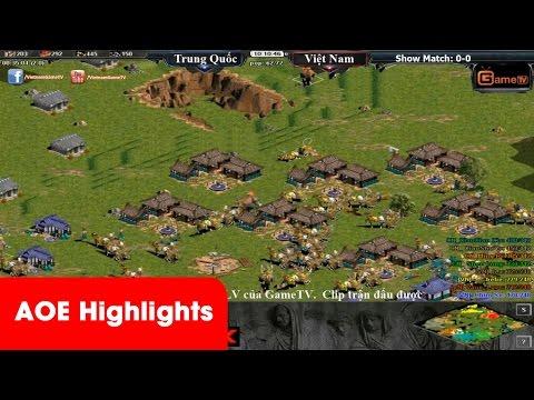 AOE HighLights - Sức mạnh không thể cản phá của Aoe Trung quốc khi đánh 4vs4 Random với Việt Nam