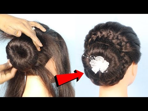 Beautiful Hairstyle for wedding  Easy Hairstyles for long hair  updo hairstyle  simple hairstyle