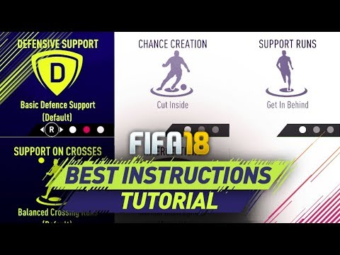 FIFA 18 BEST CUSTOM INSTRUCTIONS TUTORIAL - BEST ATTACK & BEST DEFENSE - TIPS & TRICKS