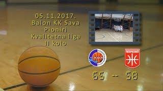 kk sava kk žarkovo 65 58 (pioniri, 05 11 2017 ) košarkaški klub sava