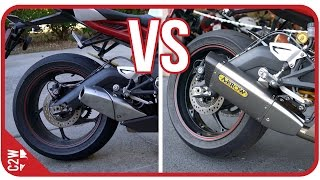 9. Stock Exhaust vs Arrow slip-on | 2016 Triumph Daytona 675r