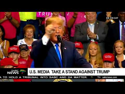 US media  take a stand against Trump