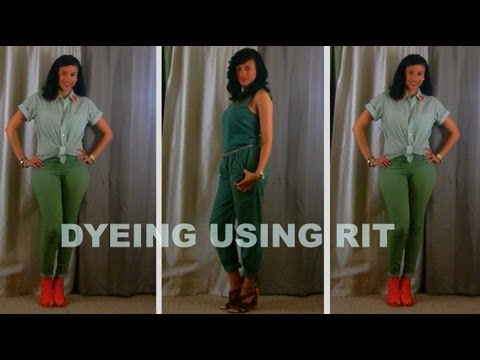 How To: Dye Using RIT in the Washing Machine