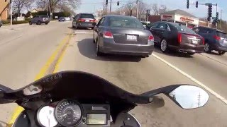 4. MOTOVAS BMW K1200S RIDE TO LUNCH REVIEW PART 2 AKRO EXHAUST CHICAGO