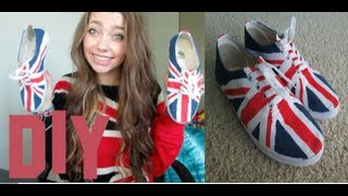 DIY Union Jack Shoes! - YouTube