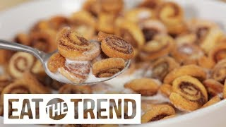 Mini Cinnamon Roll Cereal | Eat the Trend by POPSUGAR Food