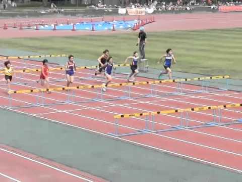 1部会 小学校陸上競技大会 6年女子80mH決勝 2014.5.20