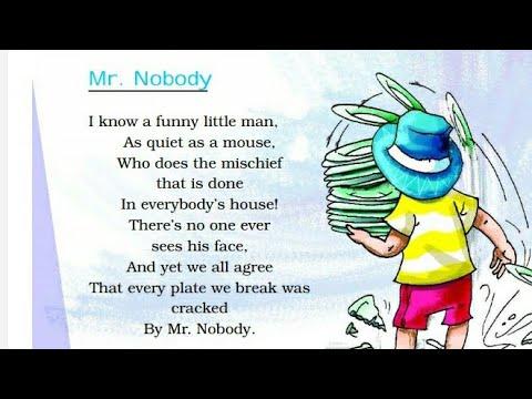 Mr. Nobody class 2 ncert (Merigold)
