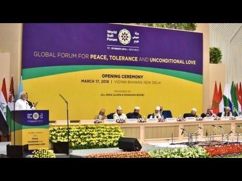PM Modi at the World Islamic Sufi Conference in New Delhi