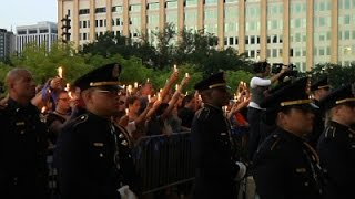 Officers Mounred, Remembered During Dallas Vigil