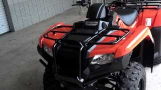 6. 2014 Rancher AT / Power Steering SALE - Honda of Chattanooga TN ATV Dealer - Orange 2014 TRX420FA2E