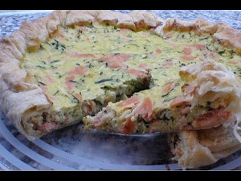 crostata salata con salmone e zucchine - ricetta