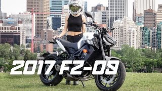 9. HER FIRST RIDE ON THE 2017 YAMAHA FZ-09 (Dual Vlog)